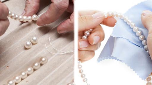 Vệ sinh và bảo quản an toàn trang sức có kết Ngọc Trai - Ysilver